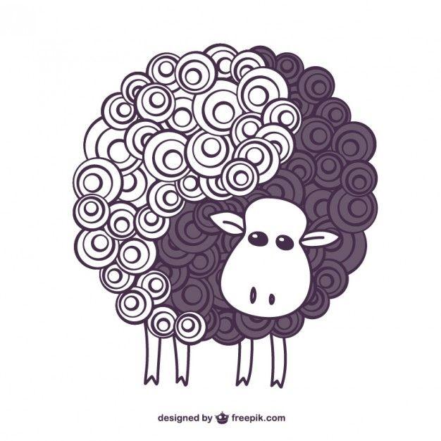 I Have Downloaded This Free Vector On Freepik Com Sheep Tattoo Sheep Art Black Sheep Tattoo