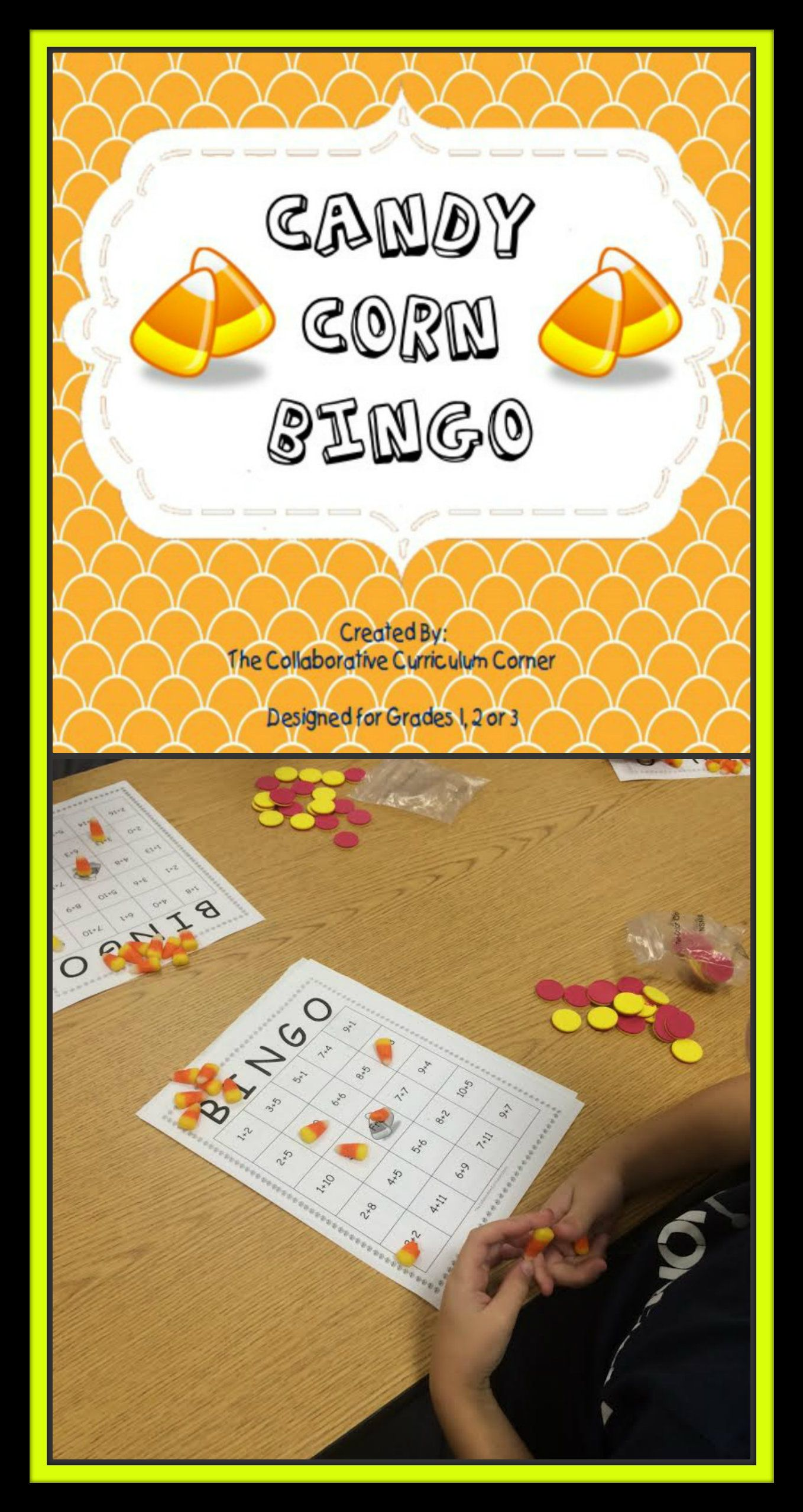 Bingo Addition And Subtraction Candy Corn Theme