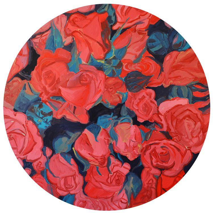 "'Stop and Smell the Roses' by Bridgette Thornton   $100   20""W x 20""H x 0.25""D   Original Art   http://vng.io/l/57jOMFk005 @VangoArt"