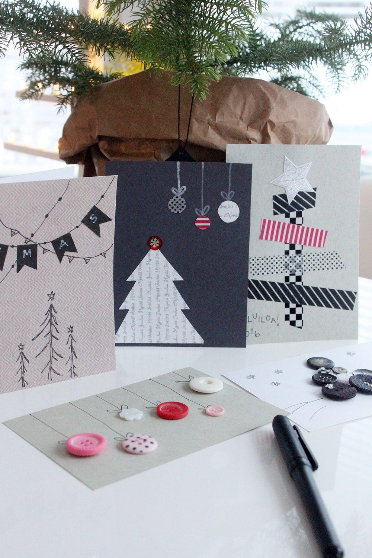 Yksinkertaiset joulukortit