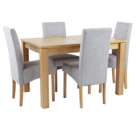 Buy Collection Swanbourne Ext Table   4 Chairs  Oak Veneer Grey at Argos Buy Collection Swanbourne Ext Table   4 Chairs  Oak Veneer Grey at  . Adaline Walnut Extendable Dining Table And 6 Chairs. Home Design Ideas