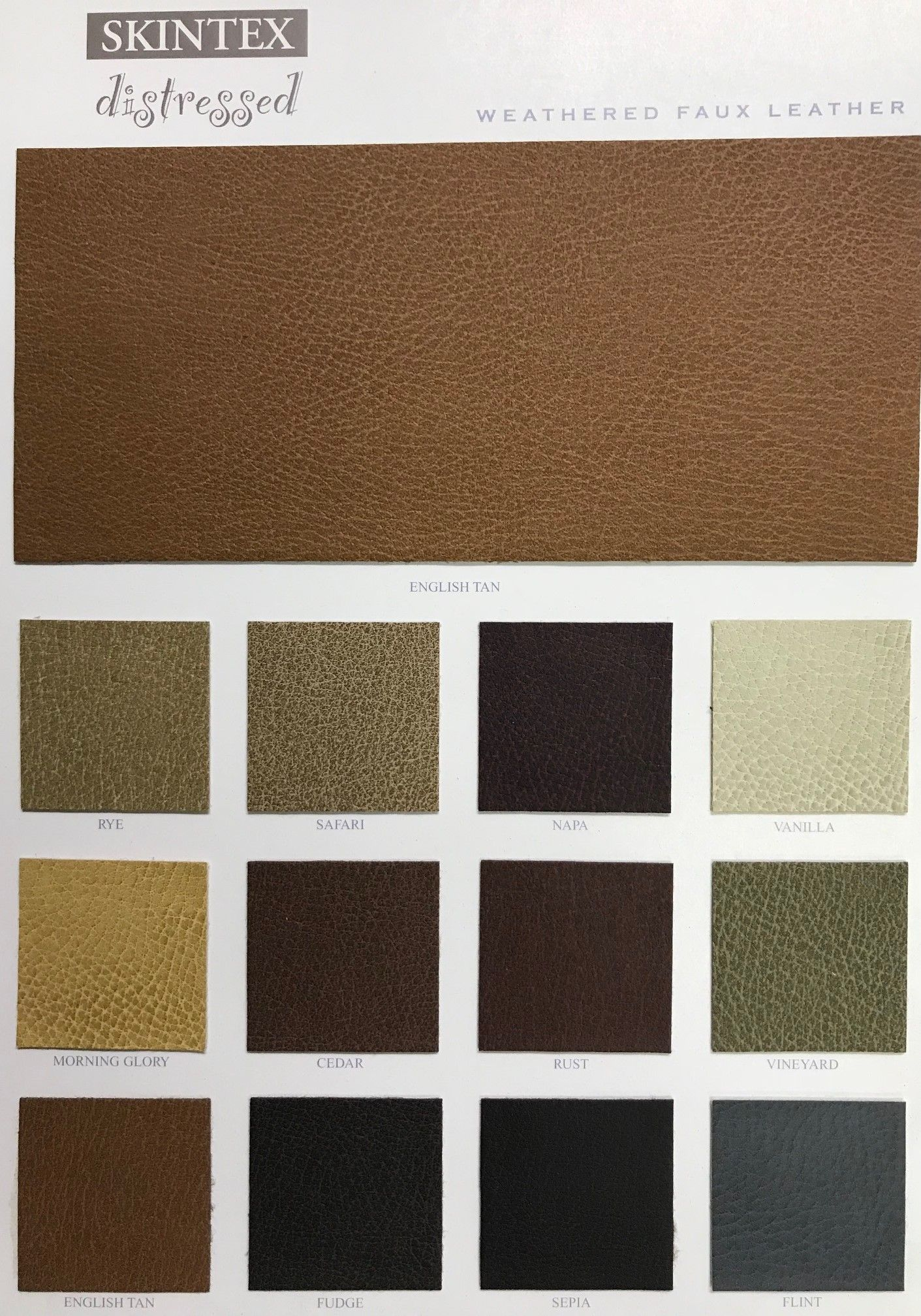 Distressed Skintex Faux Leather Upholstery Vinyl Vinyl Fabric