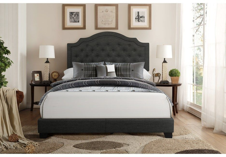 Bowerton Dark Gray Queen Upholstered Bed King Upholstered Bed Queen Upholstered Bed Upholstered Beds