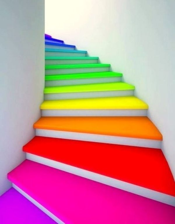 Neon Farben Erstaunliche Innentreppen Die Mit Neonfarben