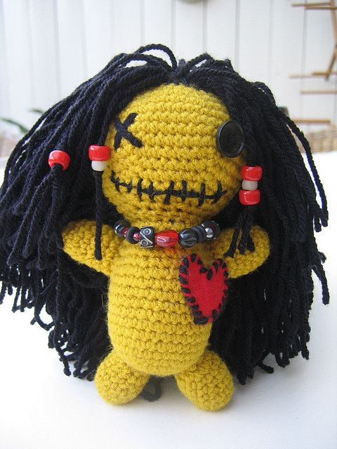 Crochet Voodoo doll by Channah Sees The World, via Flickr