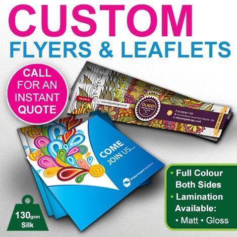 Custom Flyers Leaflet Printing Graphics Design Print