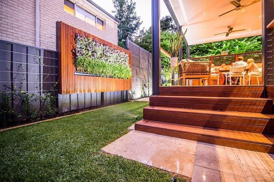Pin By Kasey Conquest On Vertical Garden Fence Modern Fence Backyard