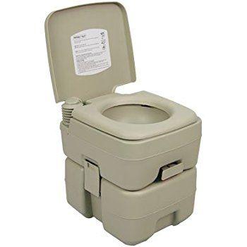 Amazon Com Camco 41531 Portable Toilet 2 6 Gallon Automotive Portable Toilet For Camping Outdoor Toilet Toilet Accessories Set