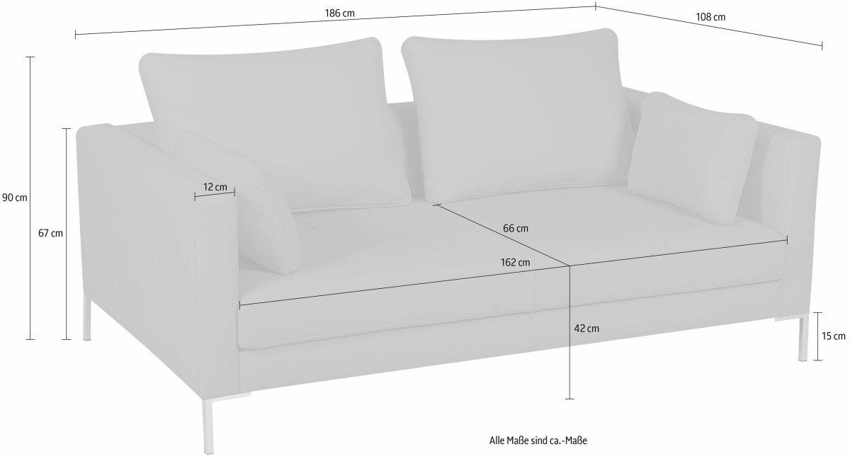 2-Sitzer Sofa mit schmalen Lehnen »Marinus« grün, ALTE GERBEREI ...