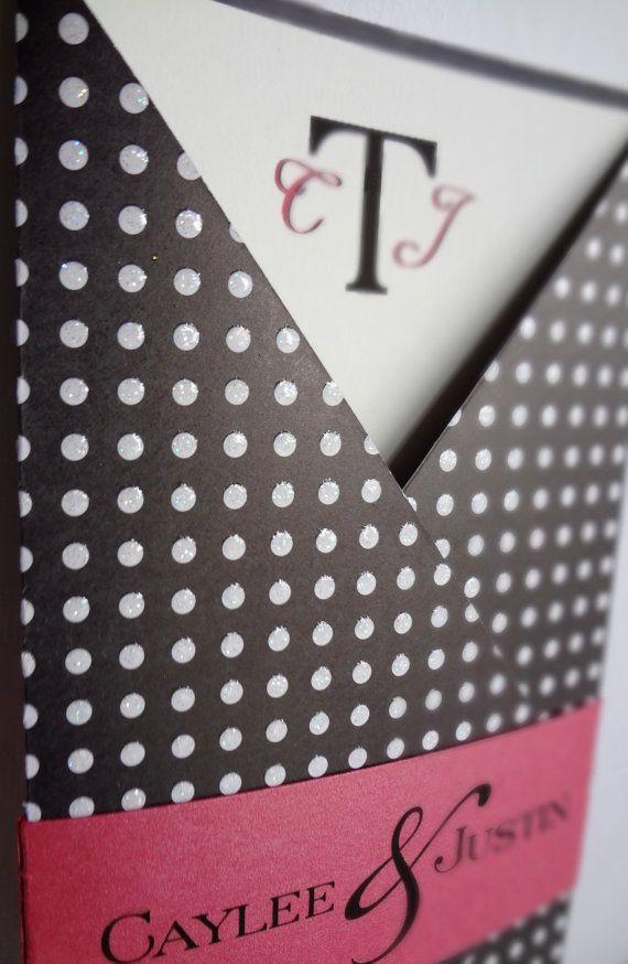 Tea Length polka dot GateFold with printed band by pocketations ...