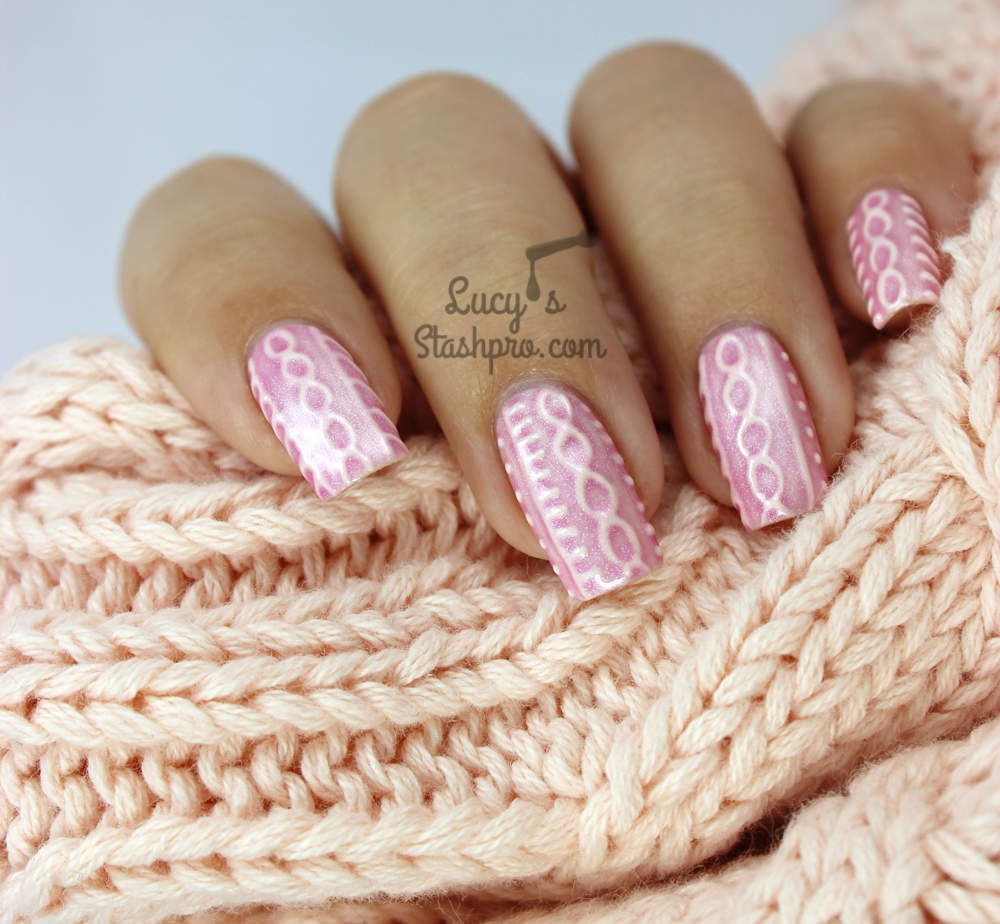 Nails of the Day: 3D cable knit sweater | nails | Pinterest | Cable ...