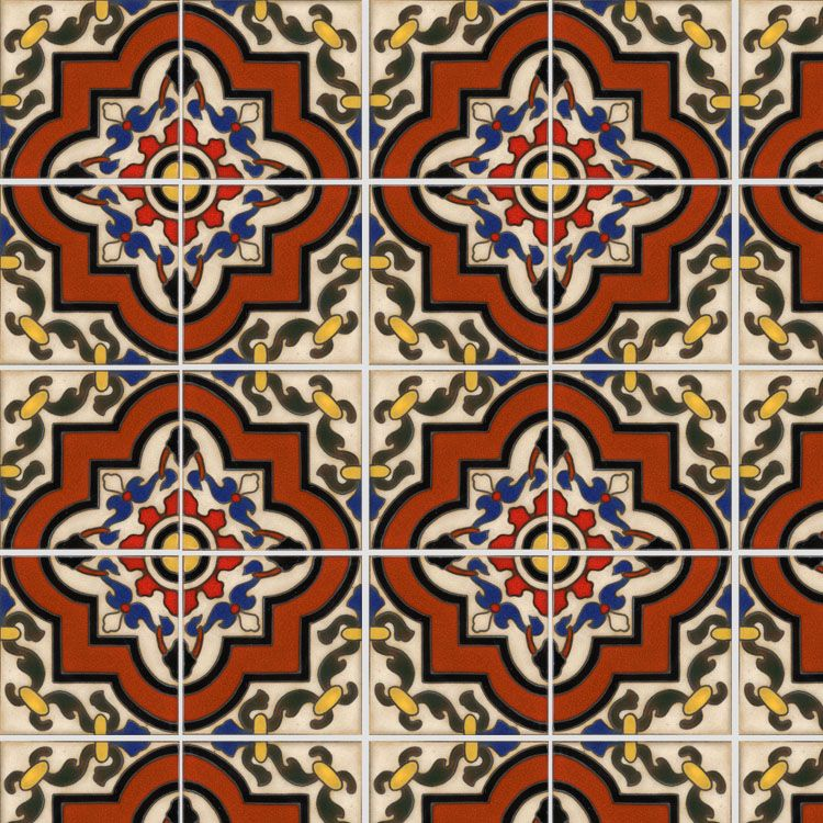 Decorative Vinyl Floor Tiles Spanish Tile 3 Temporary Decorative Vinyl Applique Flooring