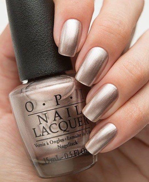 Silver metallic nail polish