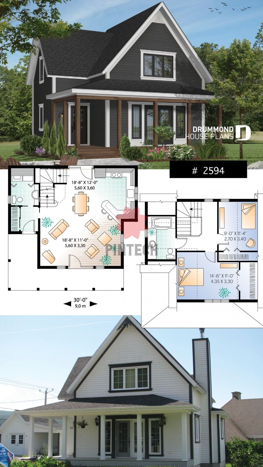 Panoramic View Cottage In 2020 Sims House Design Sims House Plans Cottage House Plans