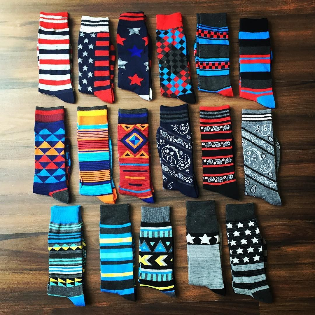 "Stocked up on a few more pairs of socks!  My wife wasn't too thrilled with my addition.  She says I have ""hoarding tendencies"" #fashionfind"