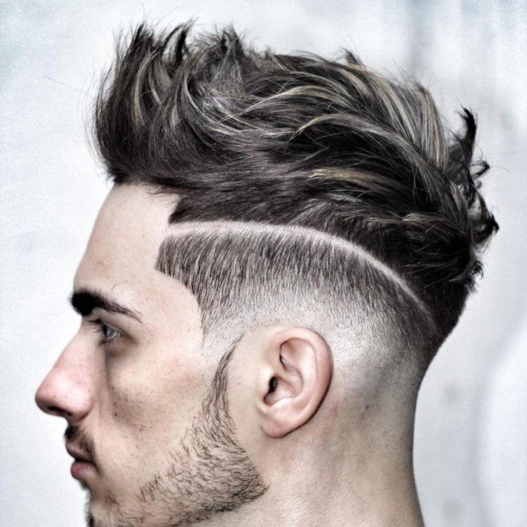 Coupe de cheveux homme dégradé avec trait, comment l adopter ... 7db8afdadac