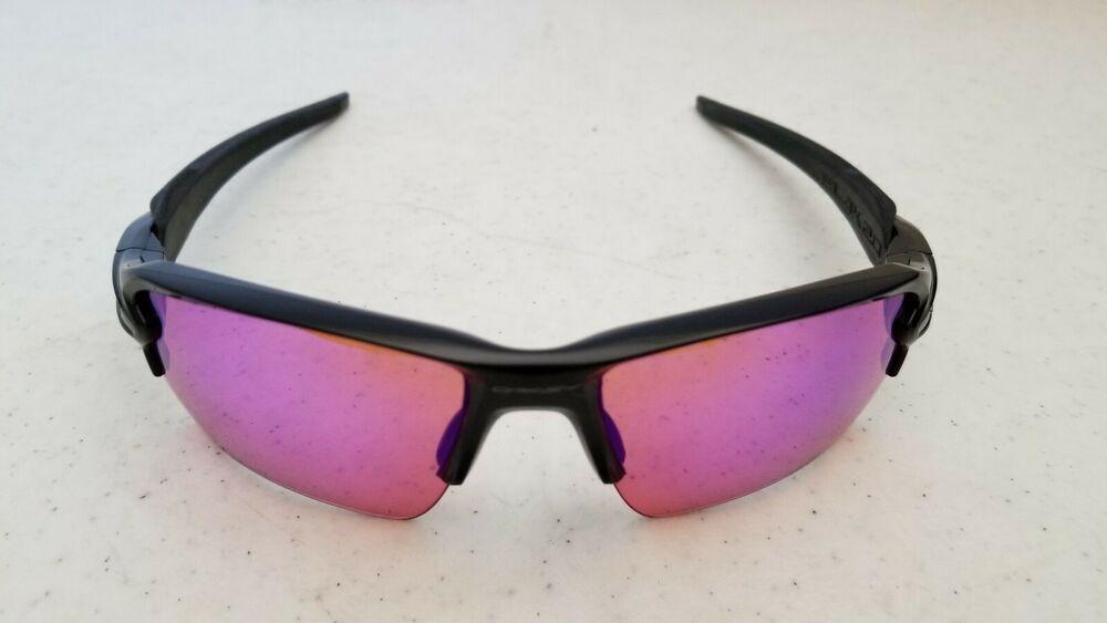 38467c6c4dd Used Oakley Flak2.0 OO9188-05 Pink Prizm Lenses gloss Black Frame 59o12 133