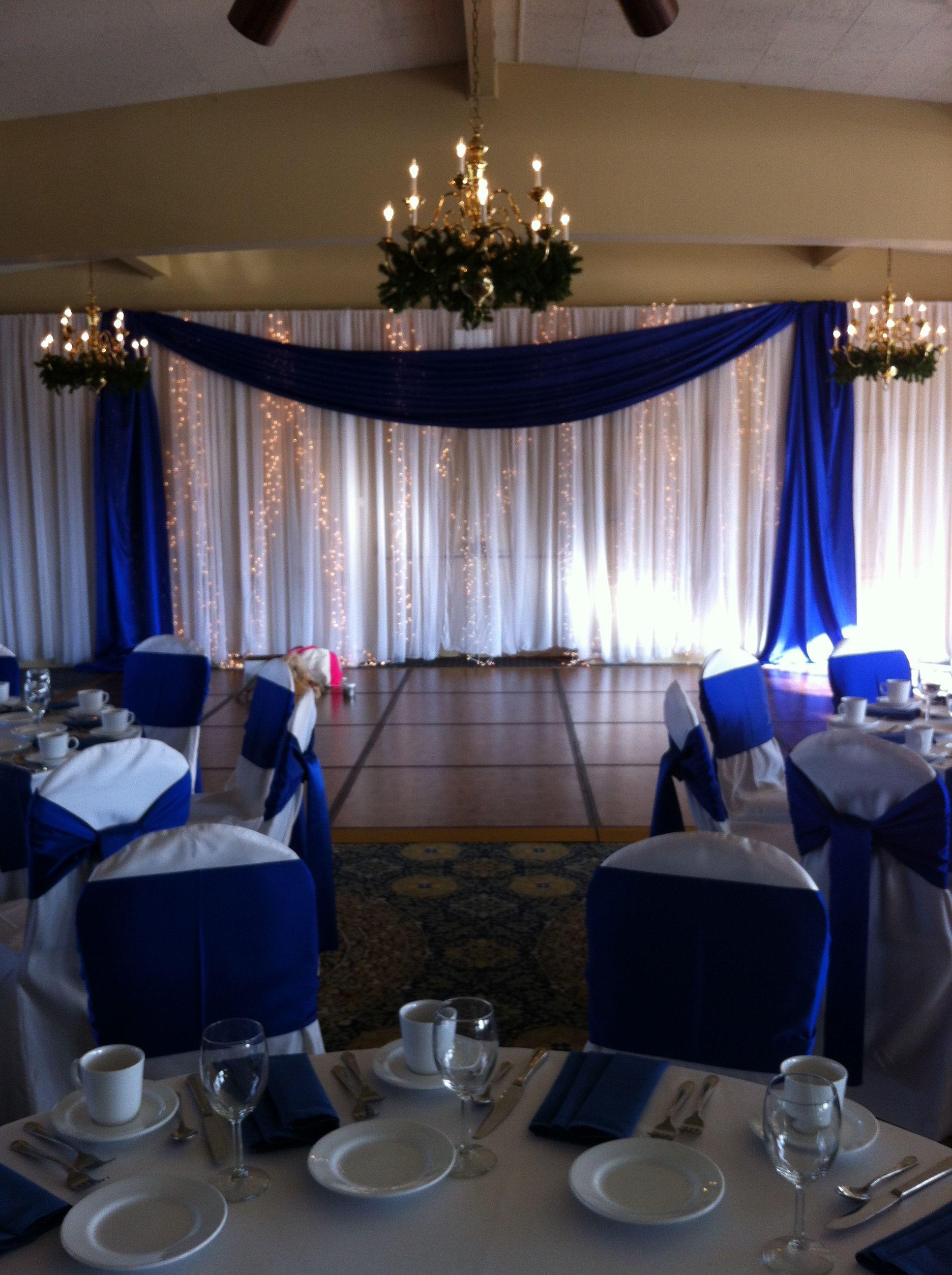 Royal Blue White White Wedding Decorations Blue Wedding