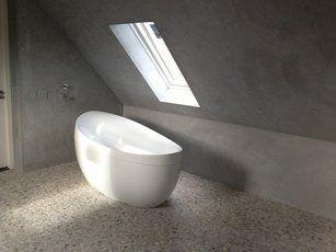 Beton Cire Tegels : Beton cire badkamer