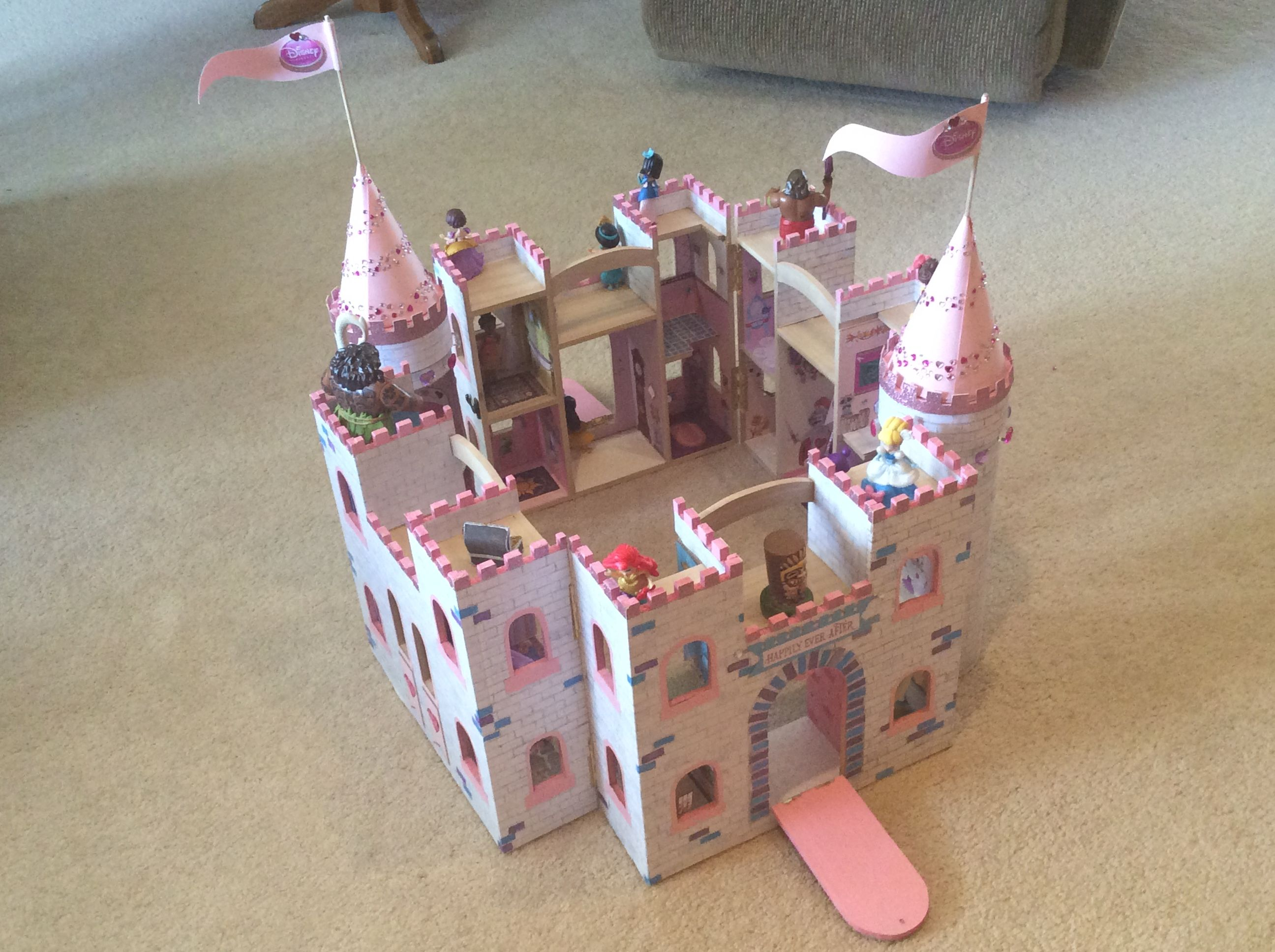 The two castles and towers combined to form one big castle