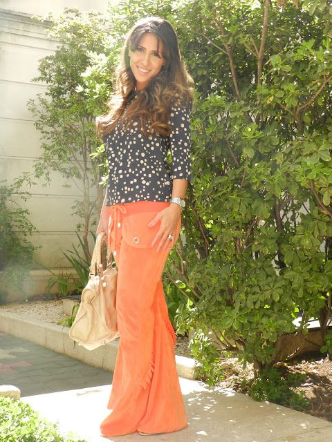 AMICI PER AMICI: look do dia calça laranja