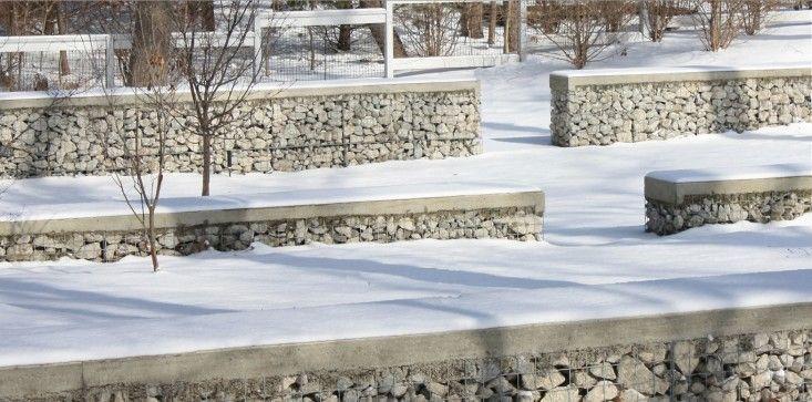 Concrete Topped Gabions Missouri Living Ideas Gabion