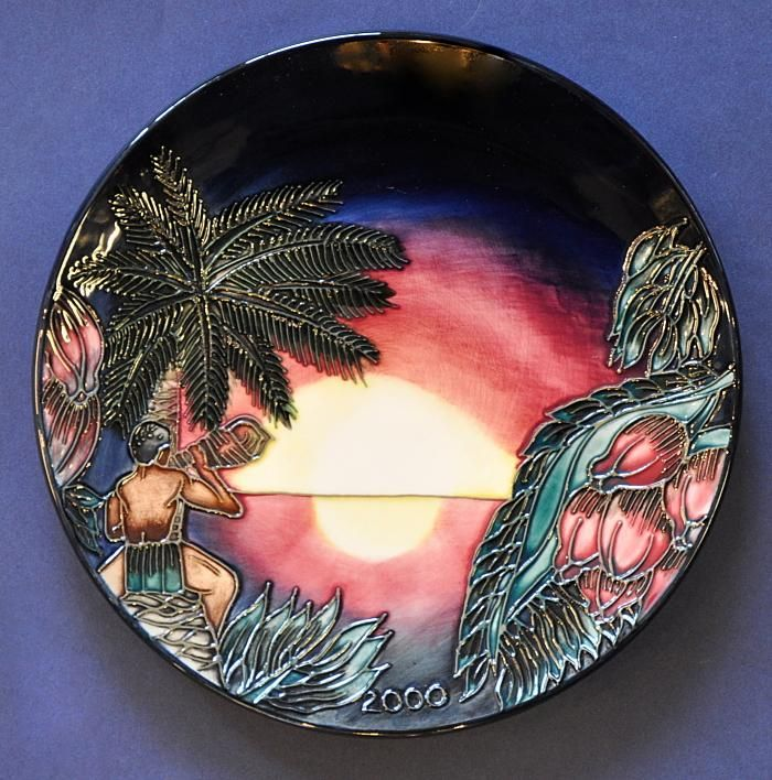 moorcroft pottery 2000 year plate birth of light http www