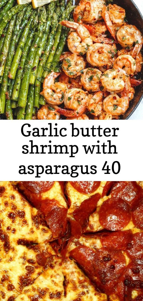 Lemon Garlic Butter Shrimp with Asparagus - So much flavor and so easy to throw together, this shri