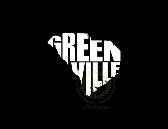 Greenville south carolina sc vinyl decal state by jedesignshop