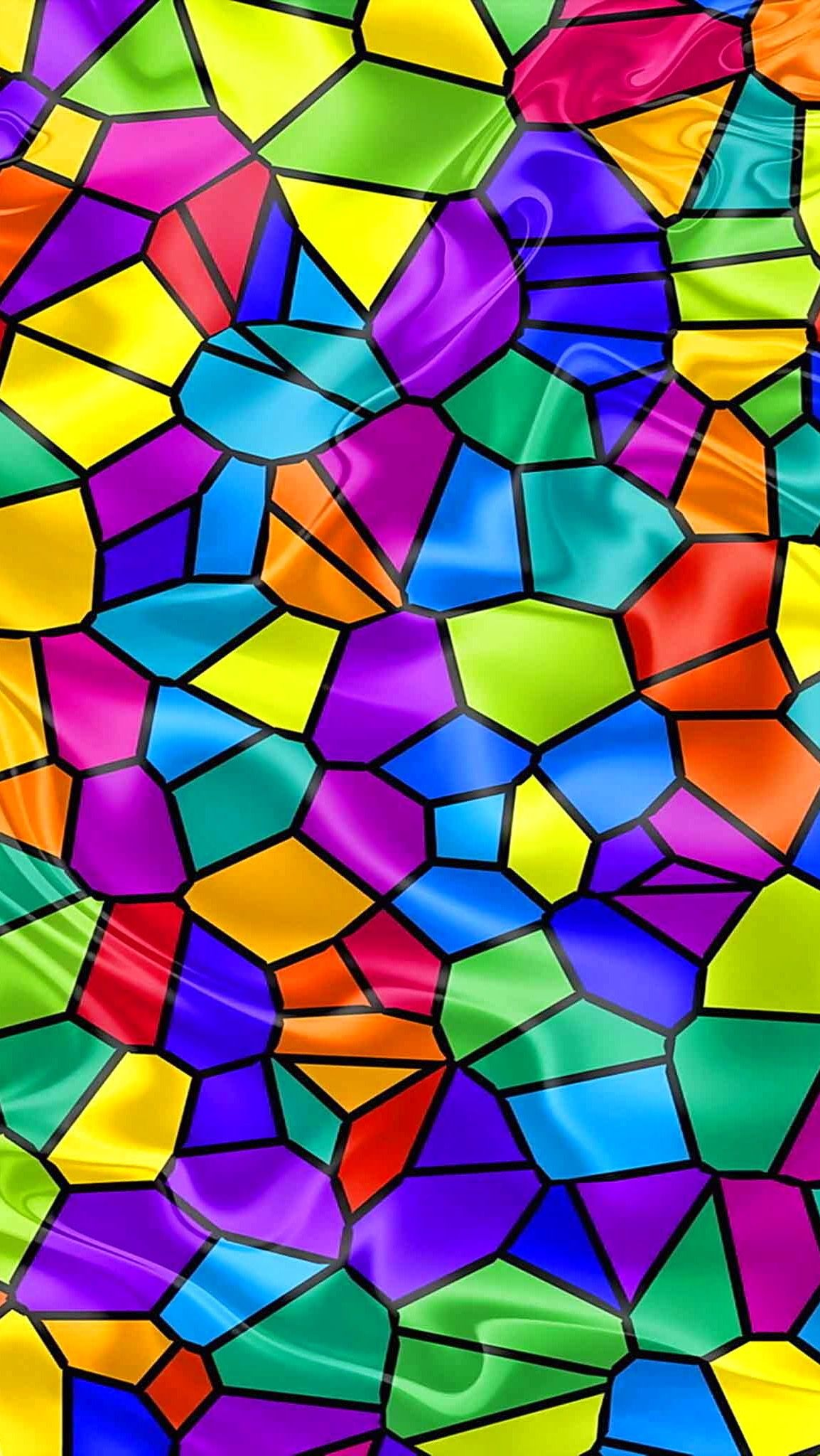 Hd Iphone Wallpaper Stain Glass Abstract Art Wallpaper Rainbow Wallpaper Wallpaper