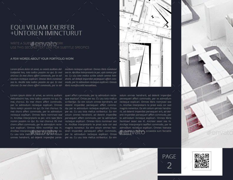 Petra Architecture Portfolio US Letter Landscape #Architecture