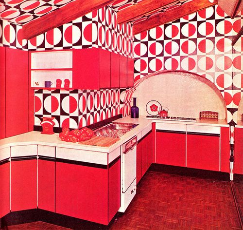 I guess this \'60s kitchen deserves a \