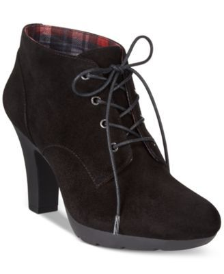 Bandolino Garett Casual Lace-Up Booties - Boots - Shoes - Macy's