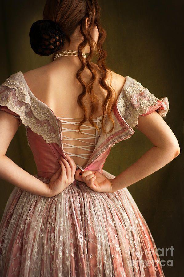 Victorian Woman Undressing Photograph