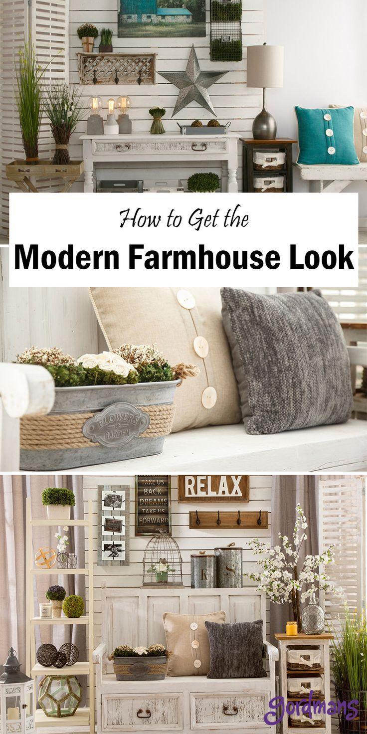 Modern Farmhouse Décor Tips & Ideas   Modern farmhouse decor, Modern ...