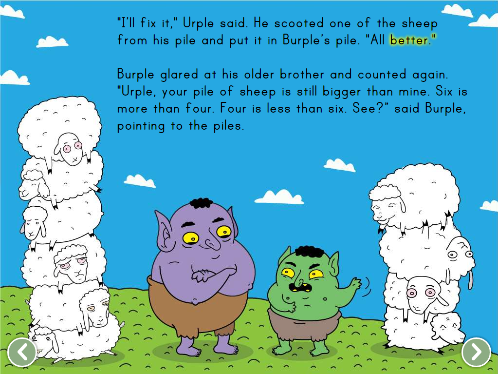 Comparing Numbers with Urple and Purple Story | Education.com | Math ...
