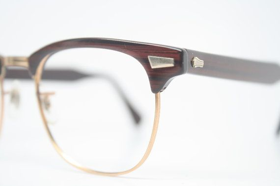 Woodgrain Browline Eye Glasses Malcolm X Vintage Frames | 20 / 20 ...