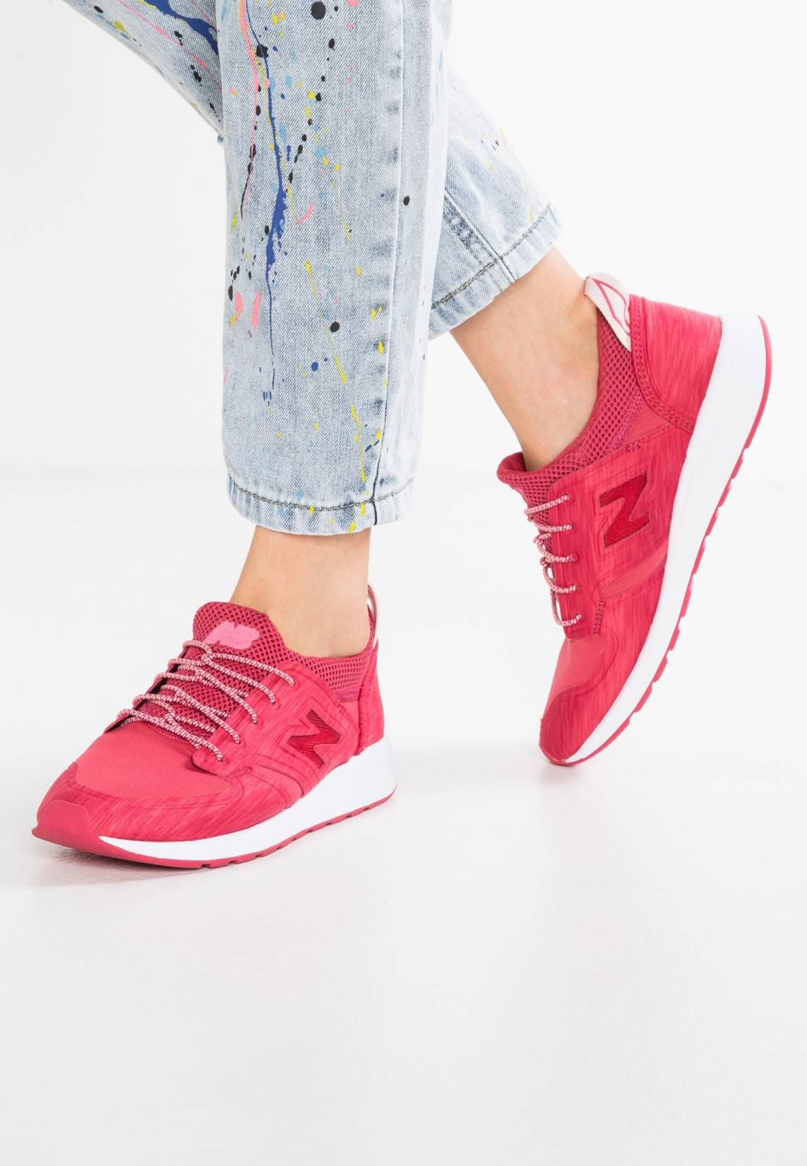 New Balance. WRL420 - Trainers - red. Pattern:marl. Sole:synthetics