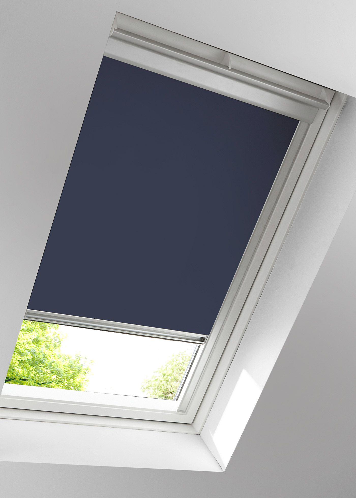 dachfenster-rollo verdunkelung, schiene blau jetzt im online shop