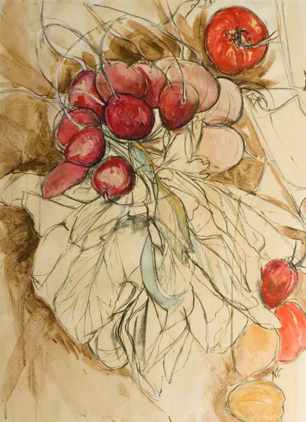 Radish & Tomato by Natasha Clutterbuck