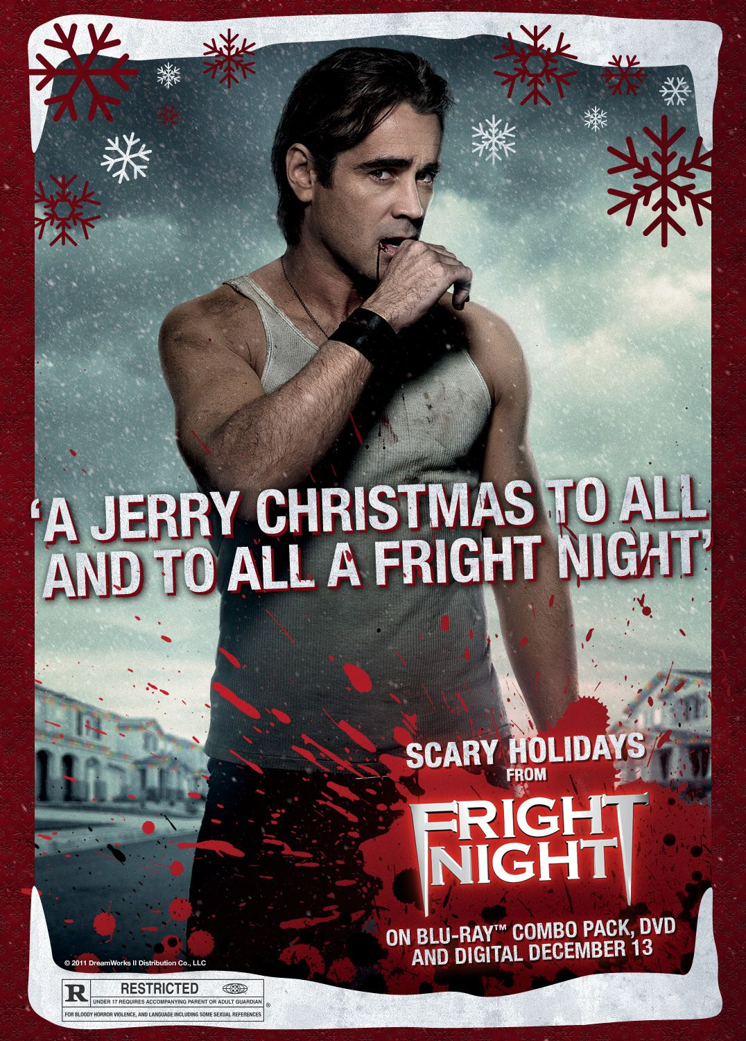 Holiday Greetings From Colin Farrell Jerry The Vampire In Fright