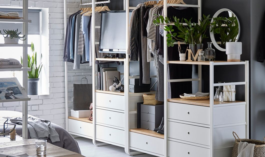 Armadio Ad Angolo Con Cabina Ikea.Elvarli Sistema Per Cabine Armadio Ikea Idee Dressing Armoire