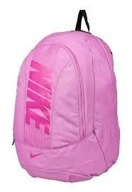 mochila saco nike rosa