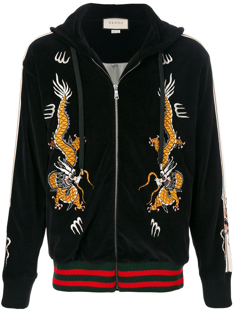 859b5564643 GUCCI GUCCI - DRAGON EMBROIDERY HOODED JACKET .  gucci  cloth ...