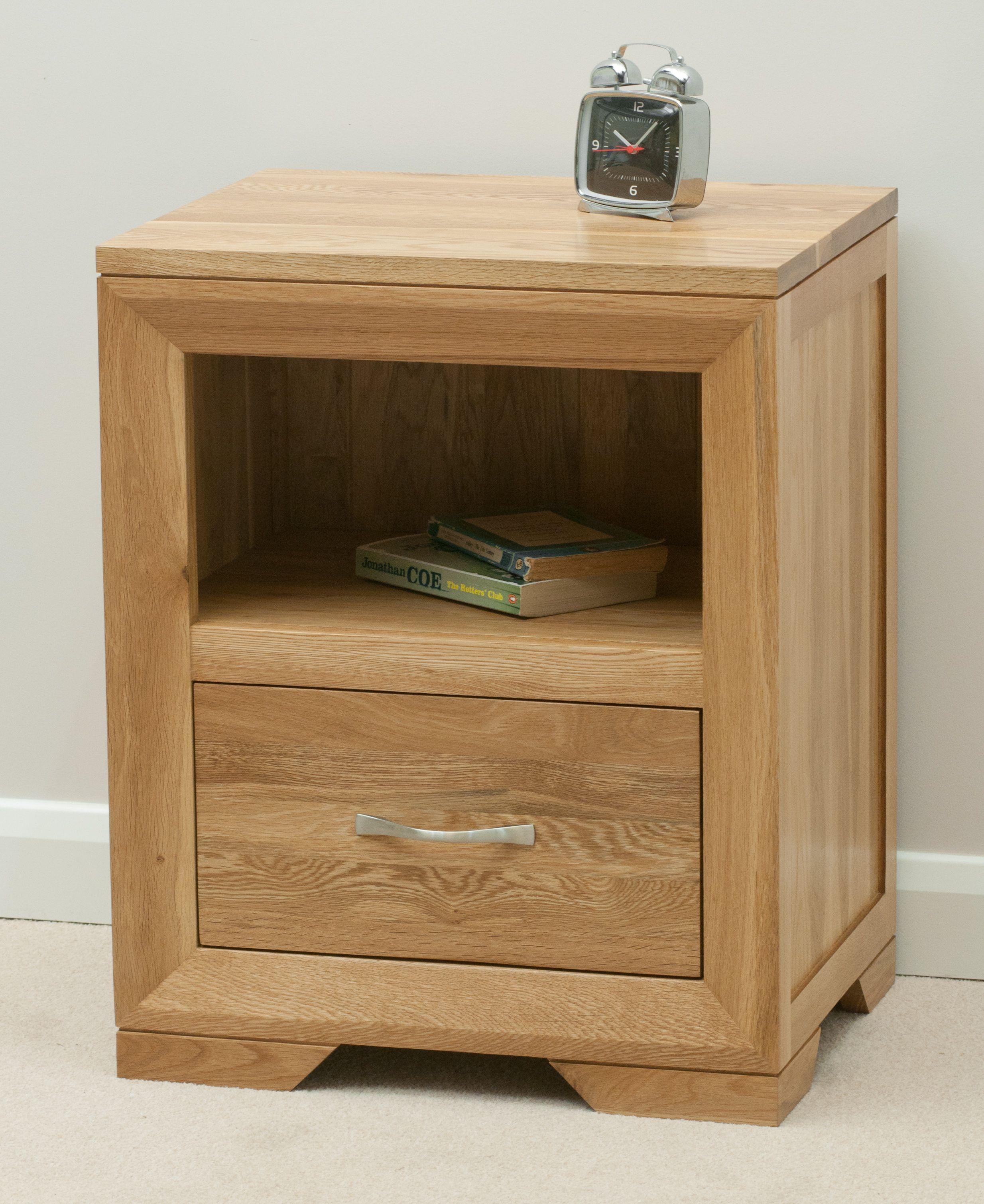 Bevel Solid Oak Range Bedside Chest Oak Furniture Land Www