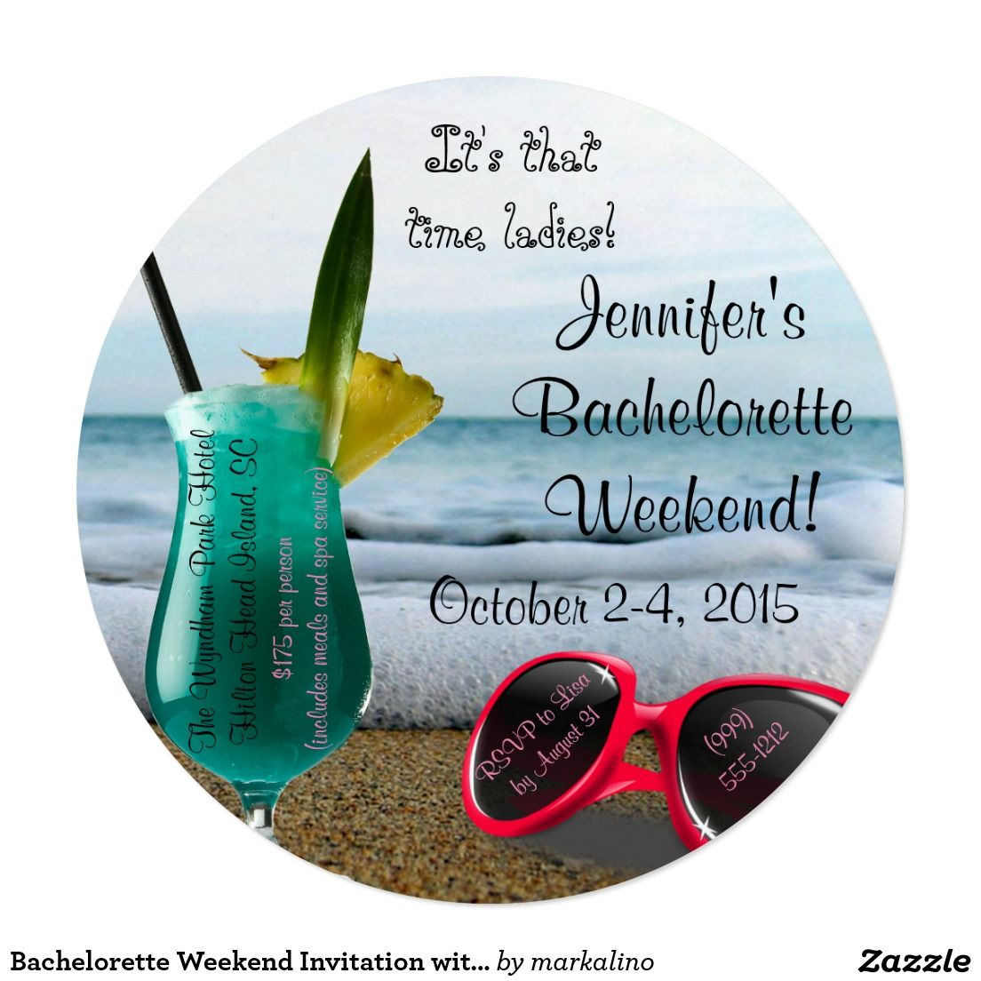 Bachelorette Weekend Invitation with Itinerary