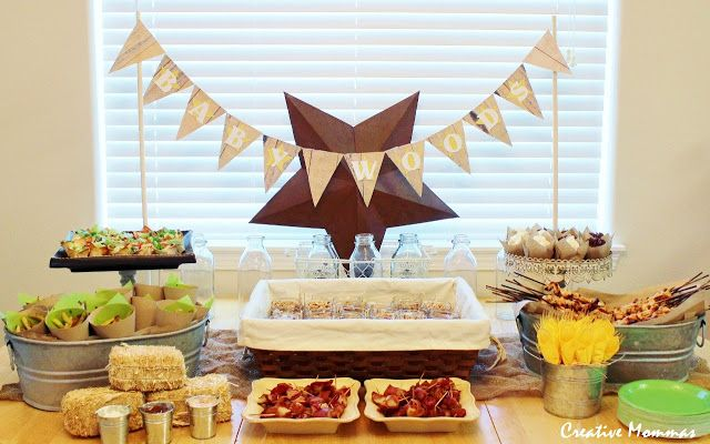 Captivating Country Baby Shower Centerpieces | Here Is A View Of The Whole Table. I Love