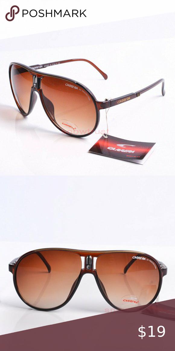 Men /&Women/'s Retro Sunglasses Plastic Frame Black White Blue Carrera Glasses+Box
