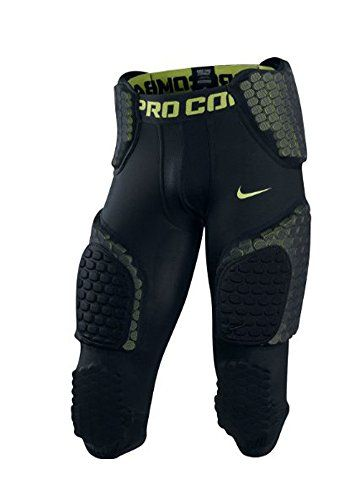 15581558630d Nike Mens Football Padded Pants Black Neon Green Large. Nike Adult Pro  Combat Hyperstrong