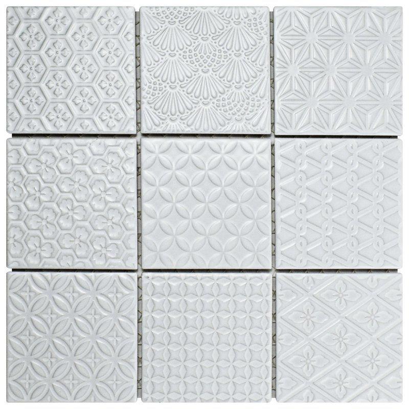 Vigor 4 X 4 Porcelain Mosaic Tile Porcelain Mosaic Tile